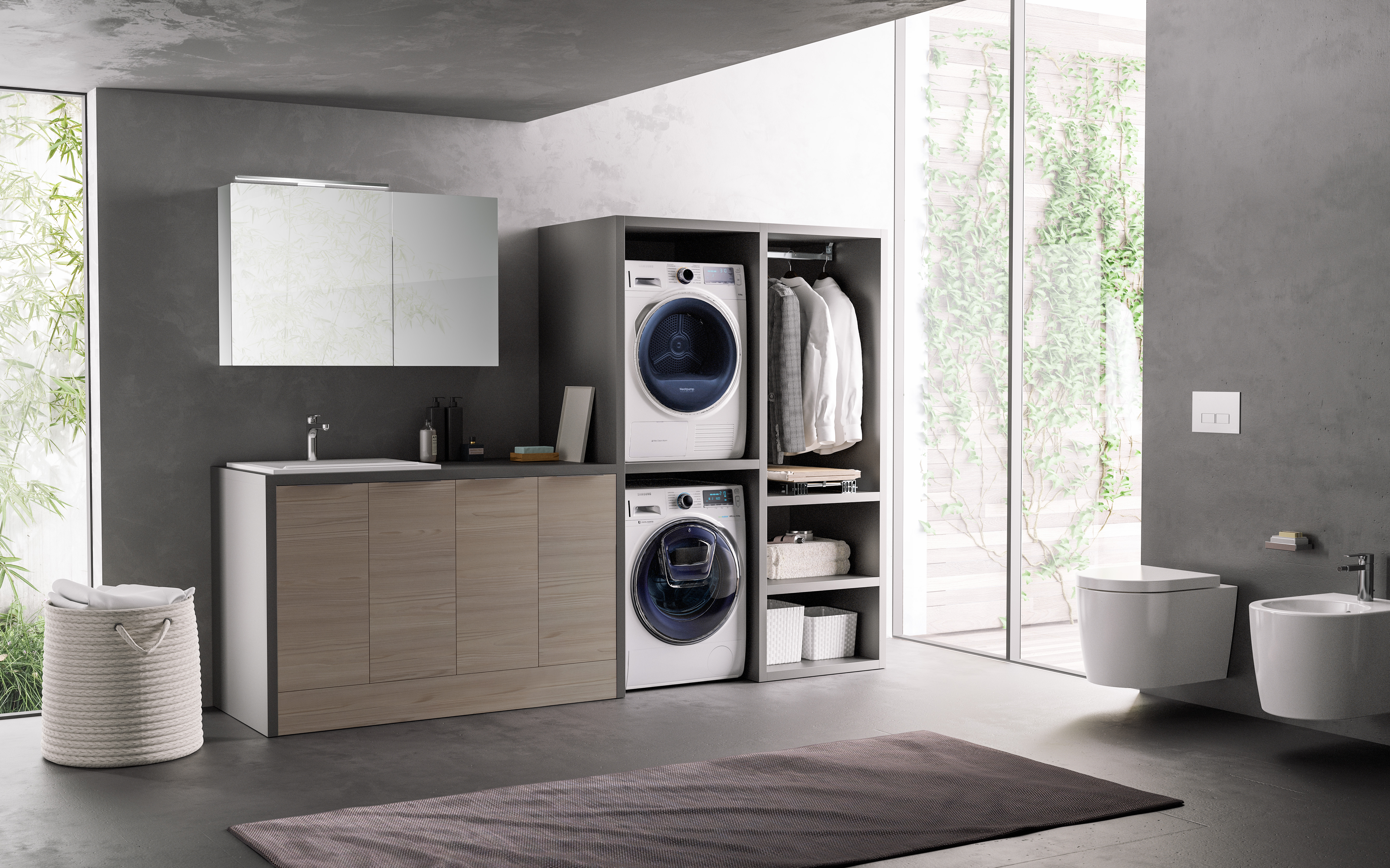 Hydro Collection: new compositions to organize the laundry space.